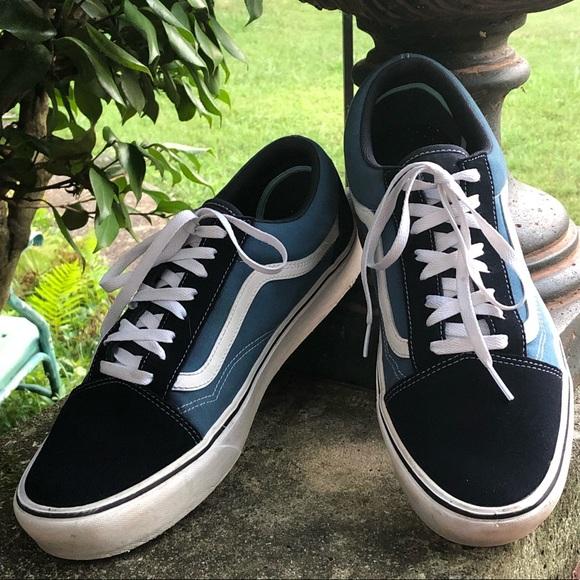 Vans Comfycush Old Skool Navy Lt Blue